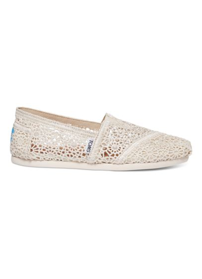 TOMS Beige (TOMS Crochet Classic Slip-On Shoe)