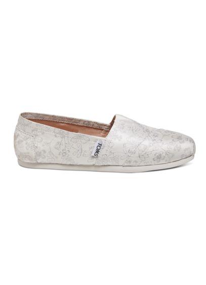 TOMS Ivory (TOMS Metallic Floral Jacquard Classic Slip-On Shoe)