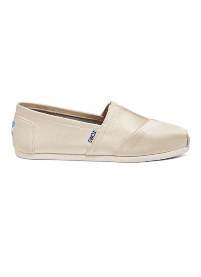 TOMS Ivory (TOMS Classic Slip-On Grosgrain Shoes)