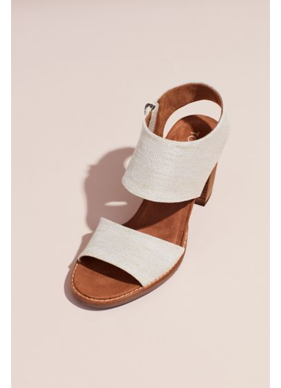 With And Heel Sandals Block Canvas Zipper Toms tChQsdr