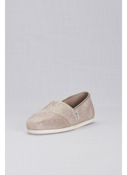 179ddd3a1498 TOMS Rose Gold Glimmer Classic Slip-On Shoes