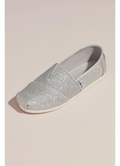 eca61edb0fd TOMS Glitter Classic Slip-On Shoes | David's Bridal