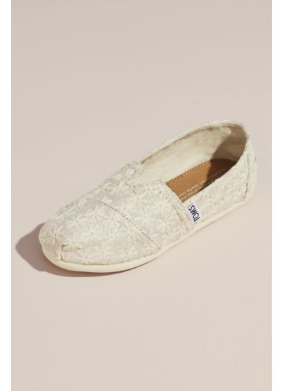 TOMS Beige (TOMS Embroidered Floral Slip-On Shoes)