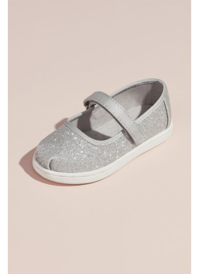 TOMS Grey (TOMS Girls Glitter Mary Janes)