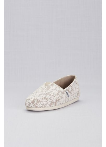 TOMS Pink (TOMS Rose Gold Daisy Classic Slip-On Shoes)