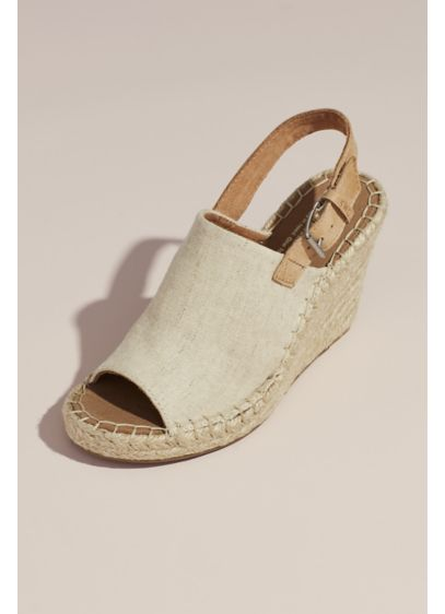 TOMS Beige (TOMS Canvas Espadrille Wedges)
