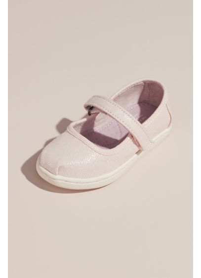 TOMS Girls Pearlized Mary Janes - These pearlized mary janes are a pretty-yet-comfortable option