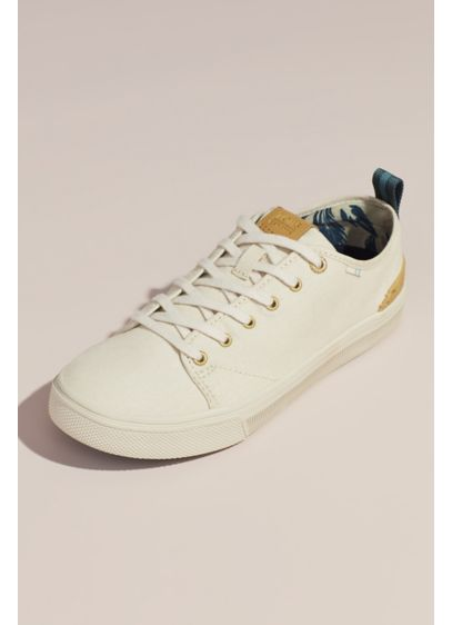 TOMS Ivory (TOMS Canvas Sneakers with Striped Pull-Tab)