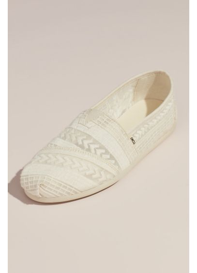TOMS Ivory (TOMS Embroidered Arrow Alpargata Slip-On Shoes)