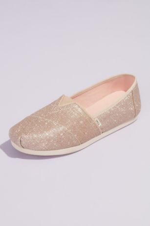 TOMS Ivory Sneakers and Casual (TOMS Glitter Canvas Wrap Classic Slip-On Shoes)
