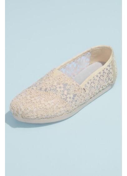 TOMS Beige (TOMS Illusion Floral Crochet Classic Slip-On Shoes)