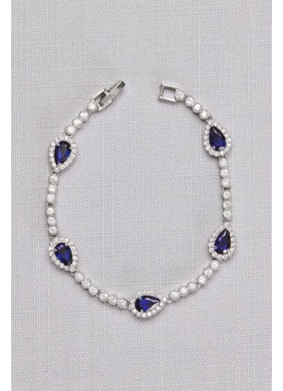 Pear Sapphire Cubic Zirconia Bracelet - Wedding Accessories
