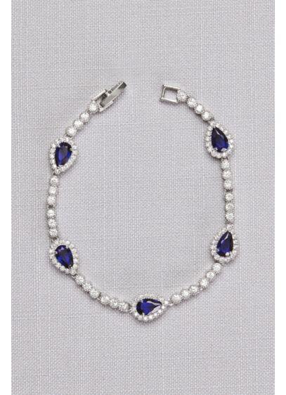 David's Bridal Blue (Pear Sapphire Cubic Zirconia Bracelet)