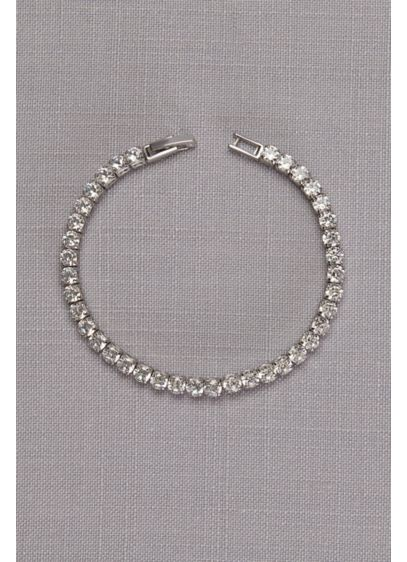 David's Bridal Grey (Delicate Cubic Zirconia Tennis Bracelet)