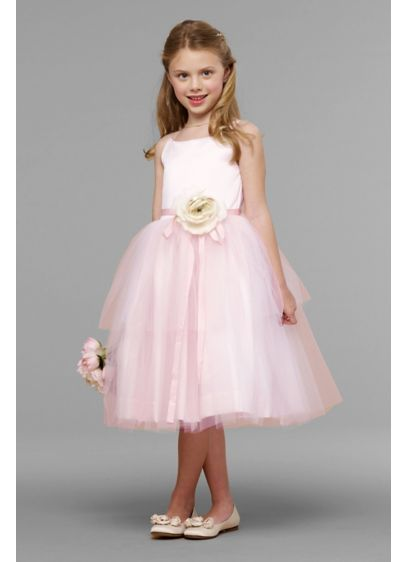 Tea Length Ballgown Spaghetti Strap Dress - US Angels