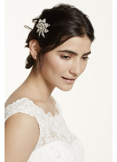 Crystal Flower Clip - Wedding Accessories