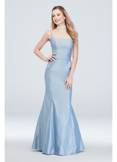 892d7632d067 Long Mermaid/ Trumpet Spaghetti Strap Cocktail and Party Dress - Blondie  Nites