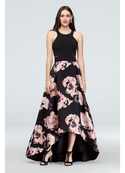 High Low Ballgown Halter Cocktail and Party Dress - Xscape