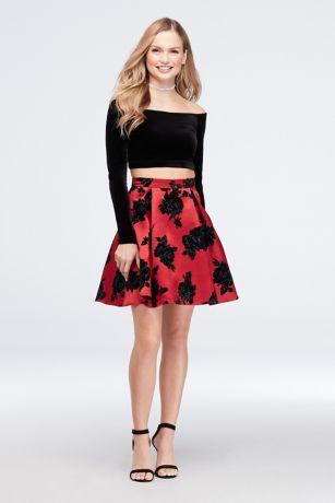 Short Ballgown Long Sleeves Dress - Jump
