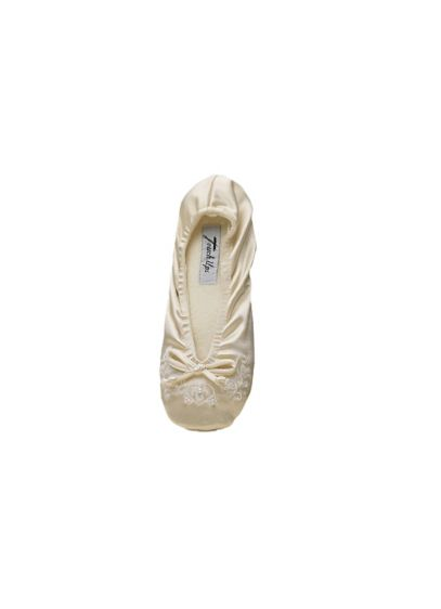 Touch Ups White (Molly Jr. Embellished Stretch Girls Slippers)