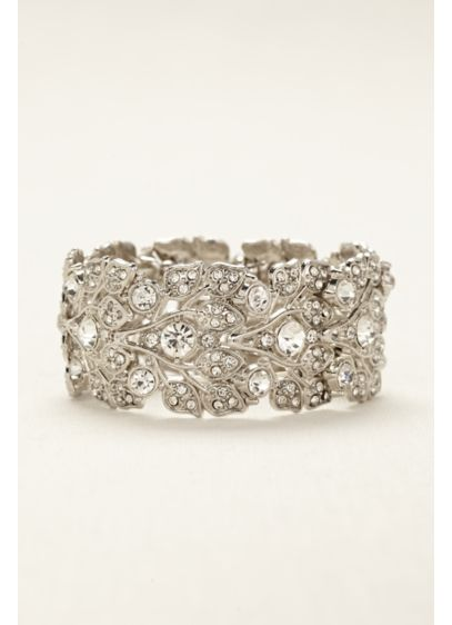 David's Bridal Grey (Bold Crystal  Bracelet)