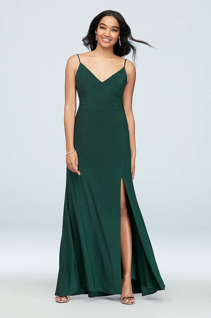 5c2f512a Green Prom Dresses | Emerald, Dark and Light Green Gowns | David's ...