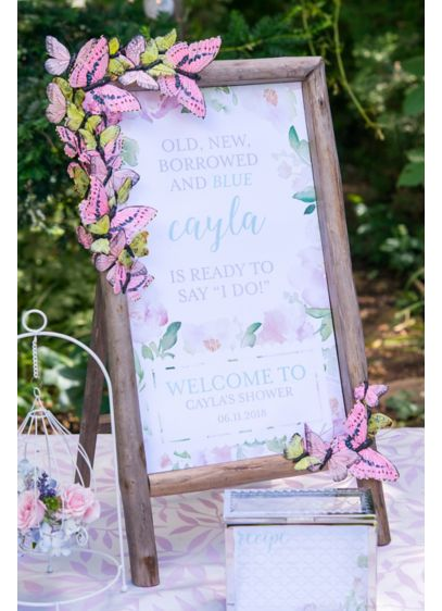 Garden Party Personalized Welcome Sign - Inspired by original water color paintings, this gorgeous