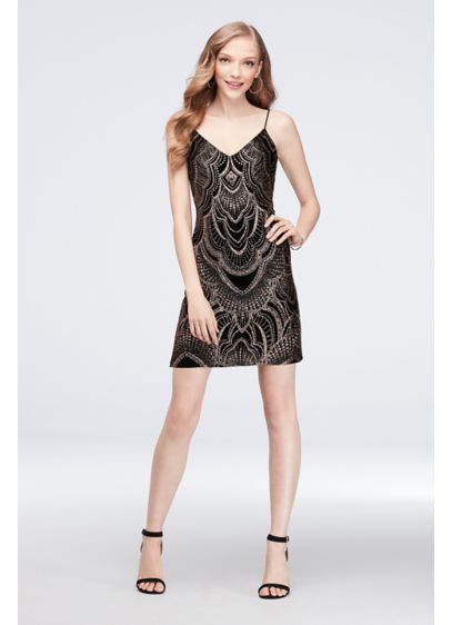 Short Sheath Spaghetti Strap Cocktail and Party Dress - Jump