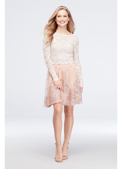 Short A-Line Long Sleeves Cocktail and Party Dress - Jump