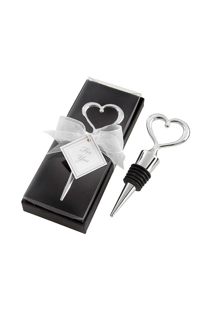 Chrome Heart Bottle Stopper in Box - Made of high quality chrome, this elegant Chrome