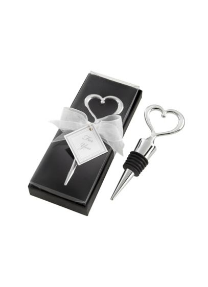 Chrome Heart Bottle Stopper in Box - Wedding Gifts & Decorations