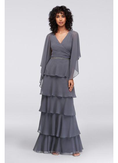 Long A-Line Jacket Formal Dresses Dress - SL Fashions