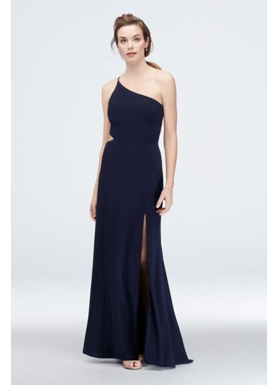 Long Sheath One Shoulder Cocktail and Party Dress - Jump