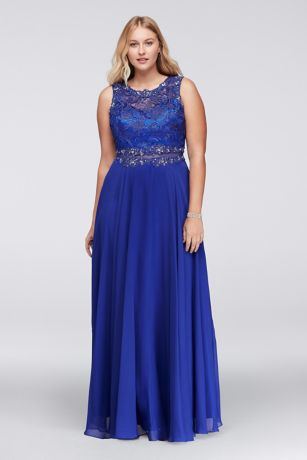 Plus Size Masquerade Dresses Blue