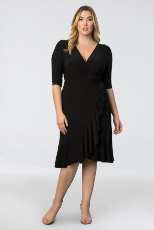 Short A-Line 3/4 Sleeves Dress -