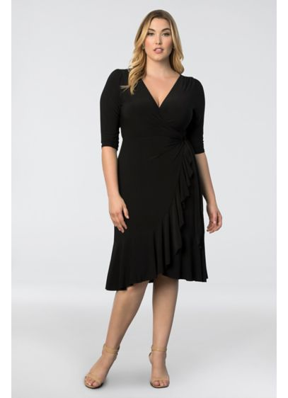 Whimsy Plus Size Wrap Dress Davids Bridal