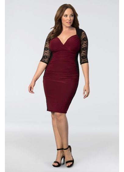 Valentina Illusion Plus Size Dress Davids Bridal