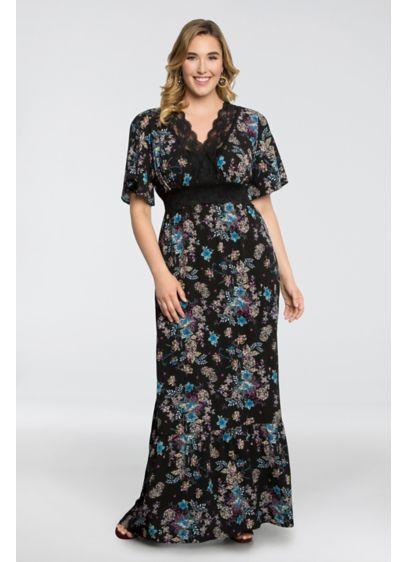 Day Dream Jersey Plus Size Printed Maxi Dress | David\'s Bridal