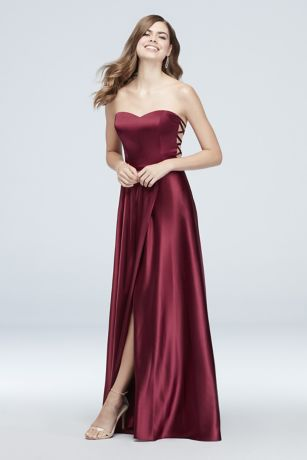 Long A-Line Strapless Dress - Blondie Nites