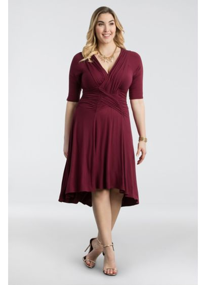 Refined Ruched Plus Size Dress | David\'s Bridal