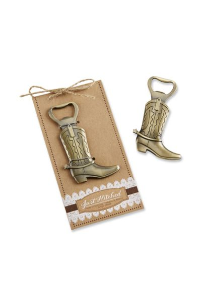 Just Hitched Cowboy Boot Bottle Opener - Wedding Gifts & Decorations