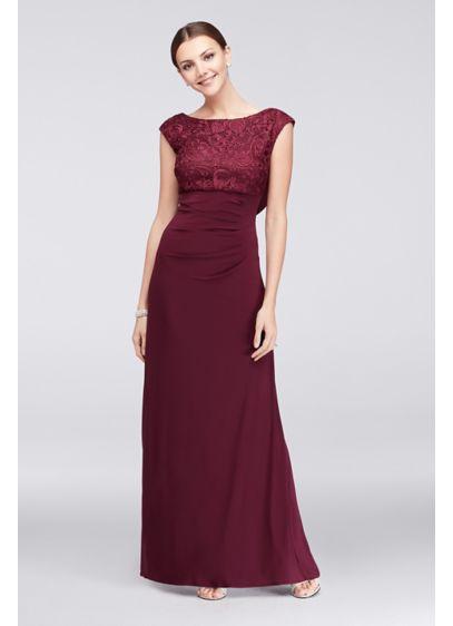 Long Sheath Wedding Dress - Alex Evenings
