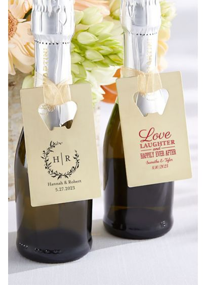 Personalized Gold Bottle Opener - Guests will remember your special day every time