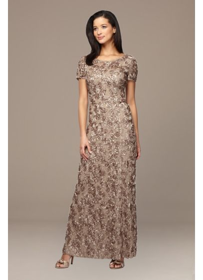 Long Ballgown Cap Sleeves Cocktail and Party Dress - Alex Evenings