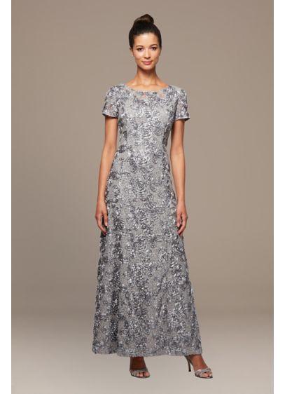 Long A-Line Short Sleeves Formal Dresses Dress - Alex Evenings