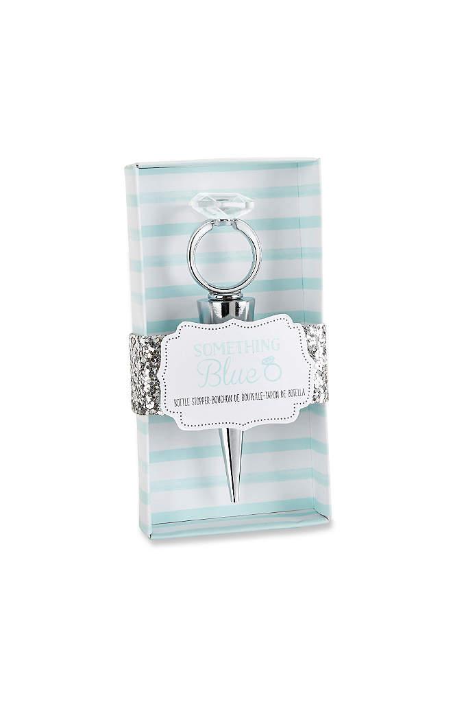 Something Blue Diamond Ring Bottle Stopper - Something Blue Diamond Ring Bottle Stoppers make great