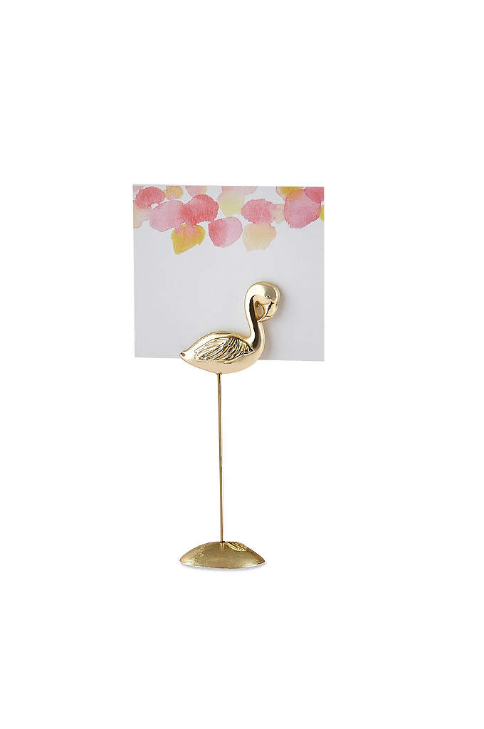 Flamingo Place Card Holder Set of 12 - Standing tall, these fun, yet chic, flamingos are