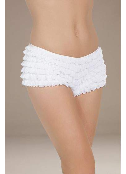 Coquette Ruffled Boyshort - Fun and flirty, these boyshorts are adorned with