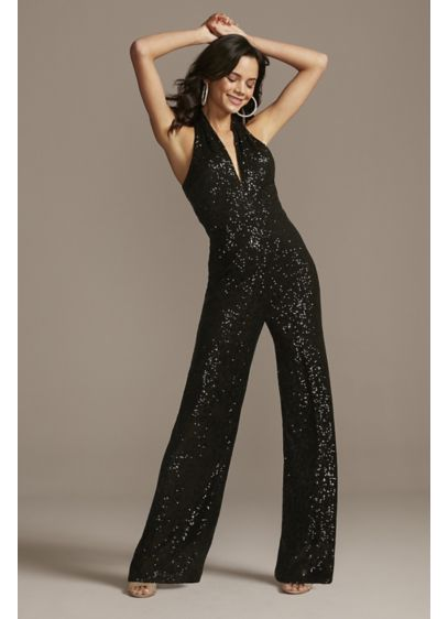 Long Jumpsuit Halter Guest of Wedding Dress - Jump