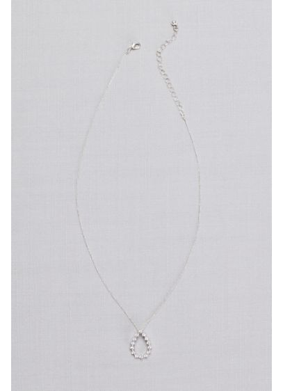 David's Bridal Grey (Crystal Teardrop Silhouette Necklace)